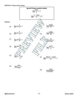 1.3 Evaluating Limits Algebraically part 2