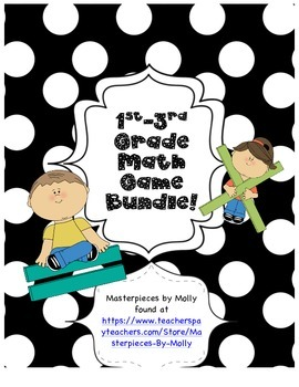 1-3 Grade Math Game BUNDLE!