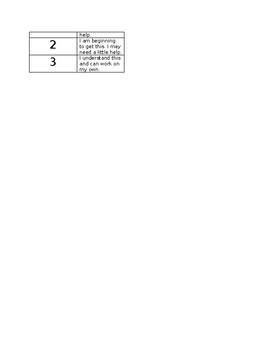 1-3 Grading Scale