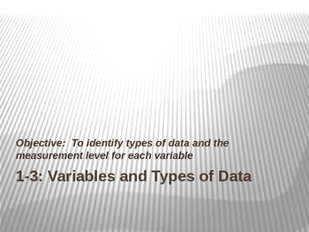 1-3 Variables and Types of Data PowerPoint