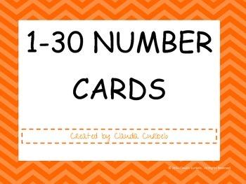 1-30 Number Cards