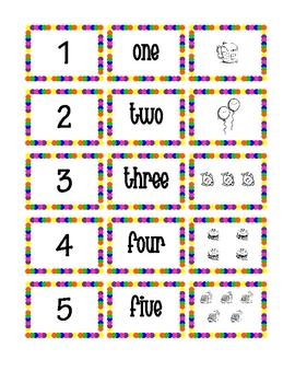 1-30 Number Flash Cards