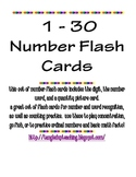 1-30 Number Flash Cards