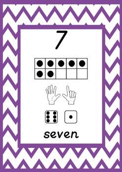 1 - 30 Number Posters with Counting Frames