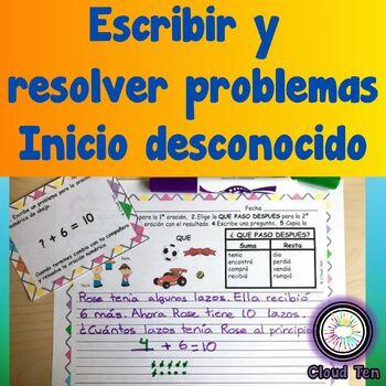 1.3F Generar y resolver problemas (inicio desconocido)