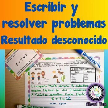 1.3F Generar y resolver problemas (resultado desconocido)