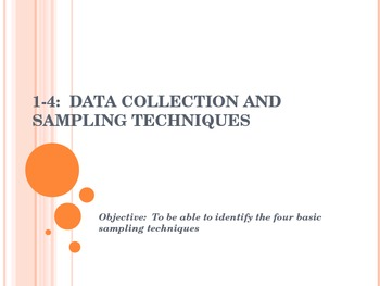 1-4 Data Collection and Sampling Techniques - Statistics