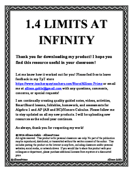 1.4 Limits at Infinity
