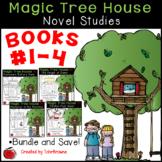#1-4 Magic Tree House Book  Novel Study Bundle