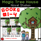 #1-4 Magic Tree House Book  Novel Study Bundle