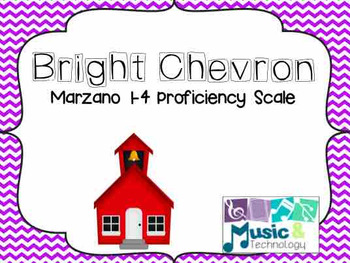 1-4 Marzano Proficiency Scale for the Music Room- Bright Chevron