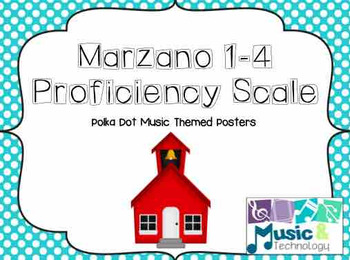 1-4 Marzano Proficiency Scale for the Music Room- Polka Dot