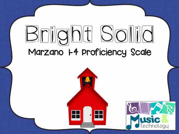 1-4 Marzano Rubric for the Music Classroom- Bright Solid
