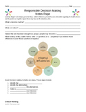 1.4 Responsible Decision Making Notes Pages