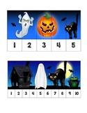 1-5 & 1-10 Halloween Number Ordering Puzzles