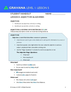 1.5 - Adjectives & Adverbs