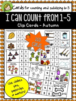 1-5 Clip cards Counting and Subitizing