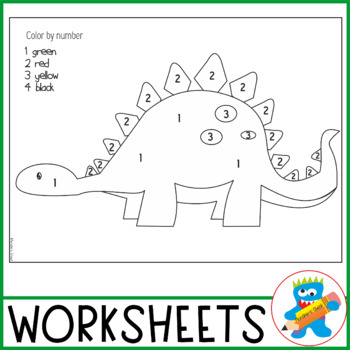 Numbers 1-5 Complete Dinosaurs Unit. 7 fun and engaging. Pre-K Math