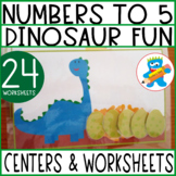 I can count to 5 Dinosaurs Unit 7 resources Sped PreK K