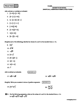 1-5 Complex Numbers