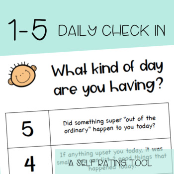 1-5 Daily Check In/Rating Scale