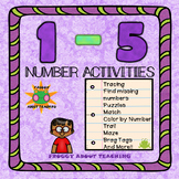 1-5 Number Activities Packet