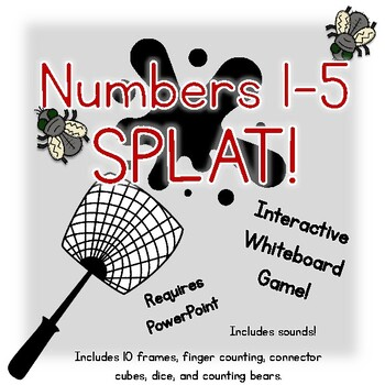 1-5 Number SPLAT! Interactive whiteboard game for numbers 1-5 shown in many ways