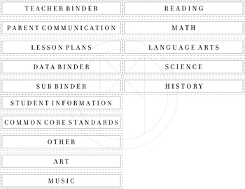 1.5 in. Binder Labels