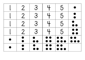 1-5 number and dot matching