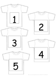 1-50 Hang the T-Shirts Number Game/Display - 10 pages