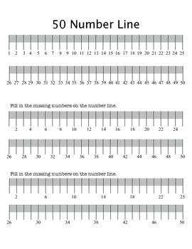 1-50 Number Chart Practice by BrendaT | Teachers Pay Teachers