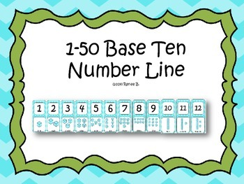 1-50 Numbers and Base Ten Number Line