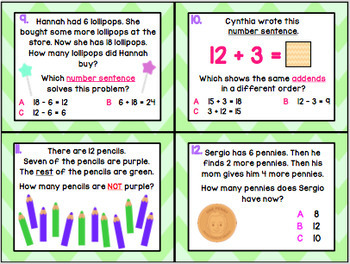 1.5F: Determine the Unknown in Equations TEKS Aligned Task Cards! (Grade 1 Math)