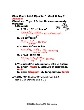 1-6-5 Quarter 1 Week 6 Day 5 answers