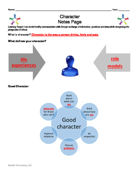 1.6 Character PowerPoint Notes Pages