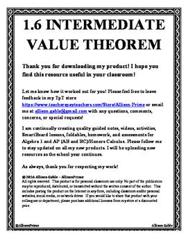 1.6 Intermediate Value Theorem