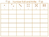 1-6 Number Roll and Write
