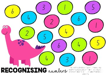 1-6 ROLL AND COVER DINOSAUR GAME