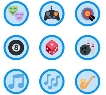 1,653 Blue Emoji Badges