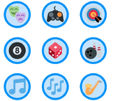 1,653 Blue Emoji Badges