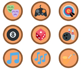 1,653 Bronze Emoji Badges