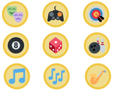 1,653 Gold Emoji Badges