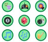 3,360 Green Emoji Badges