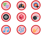 1,653 Red Emoji Badges