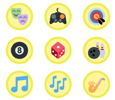 3,360 Yellow Emoji Badges