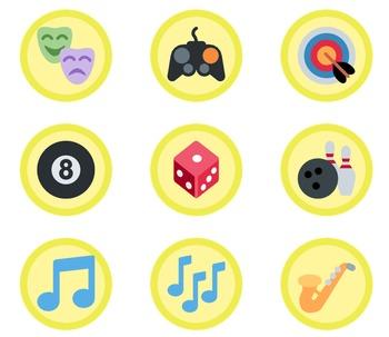 1,653 Yellow Emoji Badges