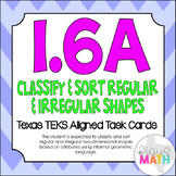 1.6A: Classifying 2D Shapes TEKS Aligned Task Cards! (Grade 1 Math)