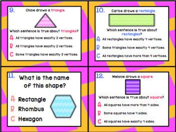 1.6D: Identify 2D Shapes TEKS Aligned Task Cards! (Grade 1 Math)