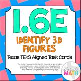 1.6E: Identifying 3D Solids TEKS Aligned Task Cards! (Grade 1 Math)