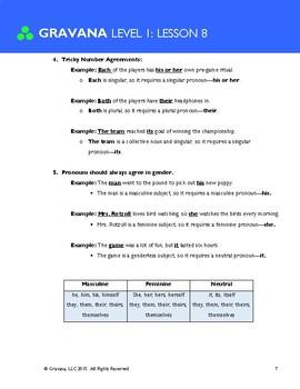 1.8 - Pronoun + Antecedent Agreement